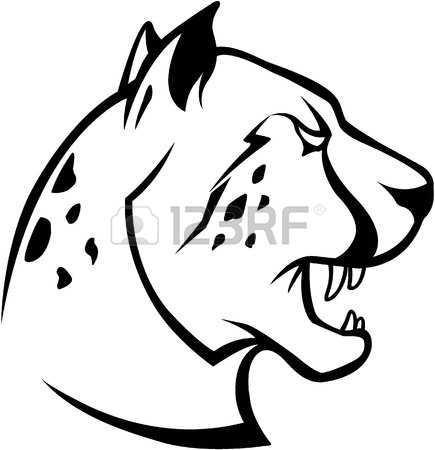 435x450 Drawn Cheetah Head