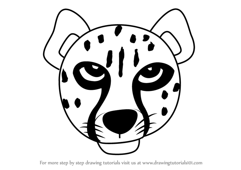 800x566 Learn How To Draw A Cheetah Face For Kids (Animal Faces For Kids