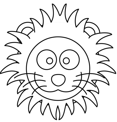 462x480 Cartoon Lion Head Coloring Page Free Printable Pages On Coloring