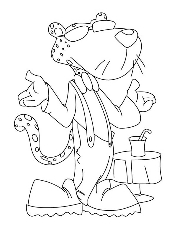 600x776 Awesome Chester The Cheetah Coloring Page