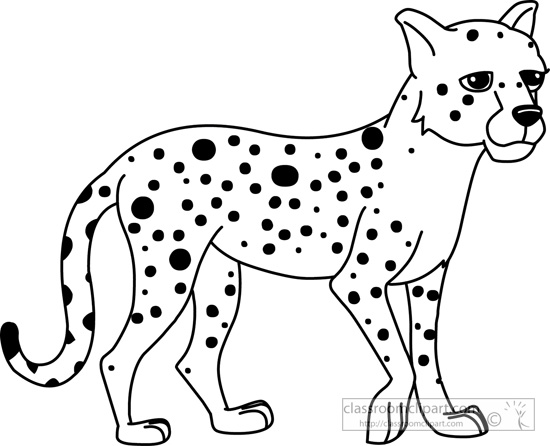 cheetah outline drawing at getdrawings com free for personal use