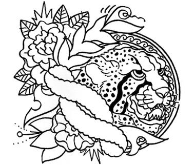 Cheetah Print Drawing