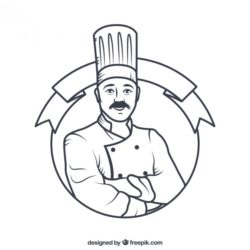 250x250 Chef Drawing, Pencil, Sketch, Colorful, Realistic Art Images
