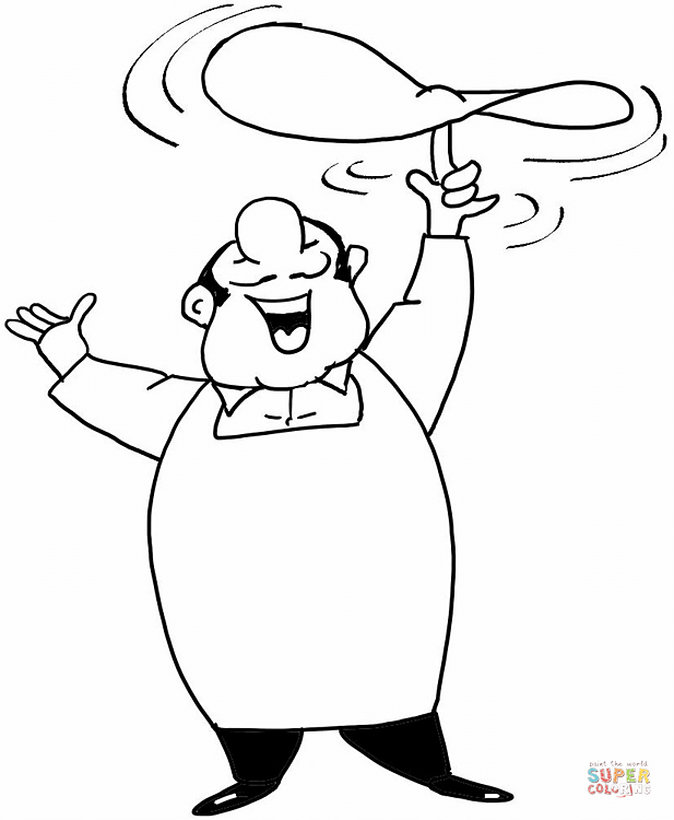 617x750 Cooking Chef Coloring Page Free Printable Coloring Pages