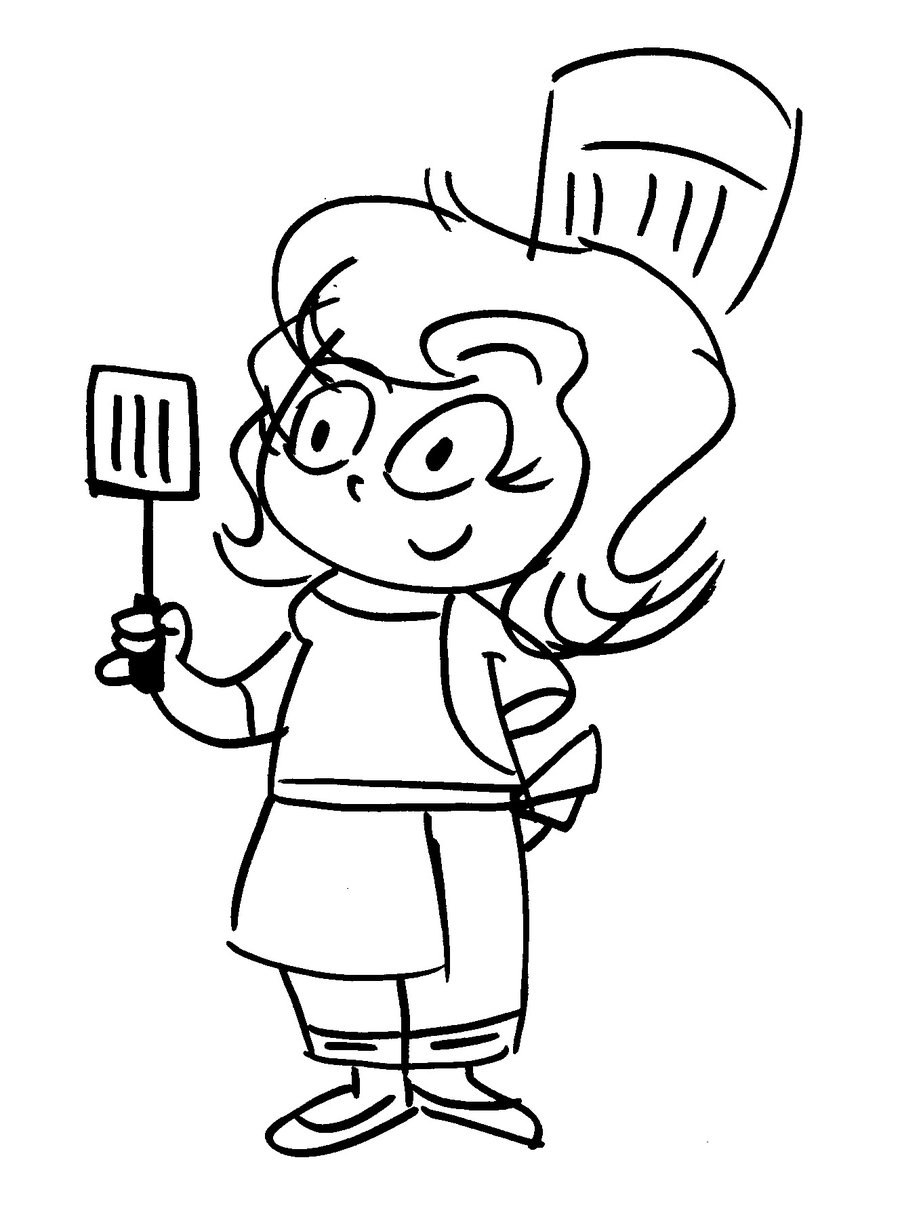 900x1223 Drawing Of A Chef
