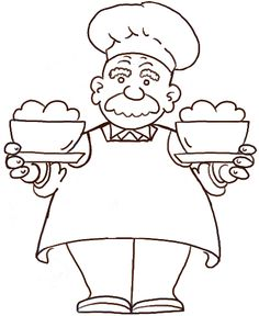 236x288 Cute Line Drawings Of Chefs