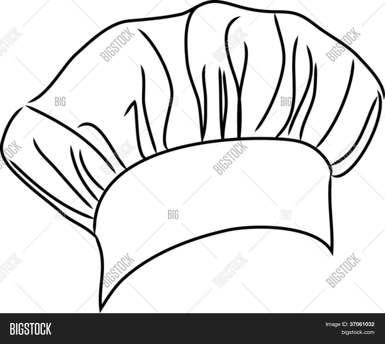 1500x1340 Chef Hat Vector Line Drawing Vector Amp Photo Bigstock