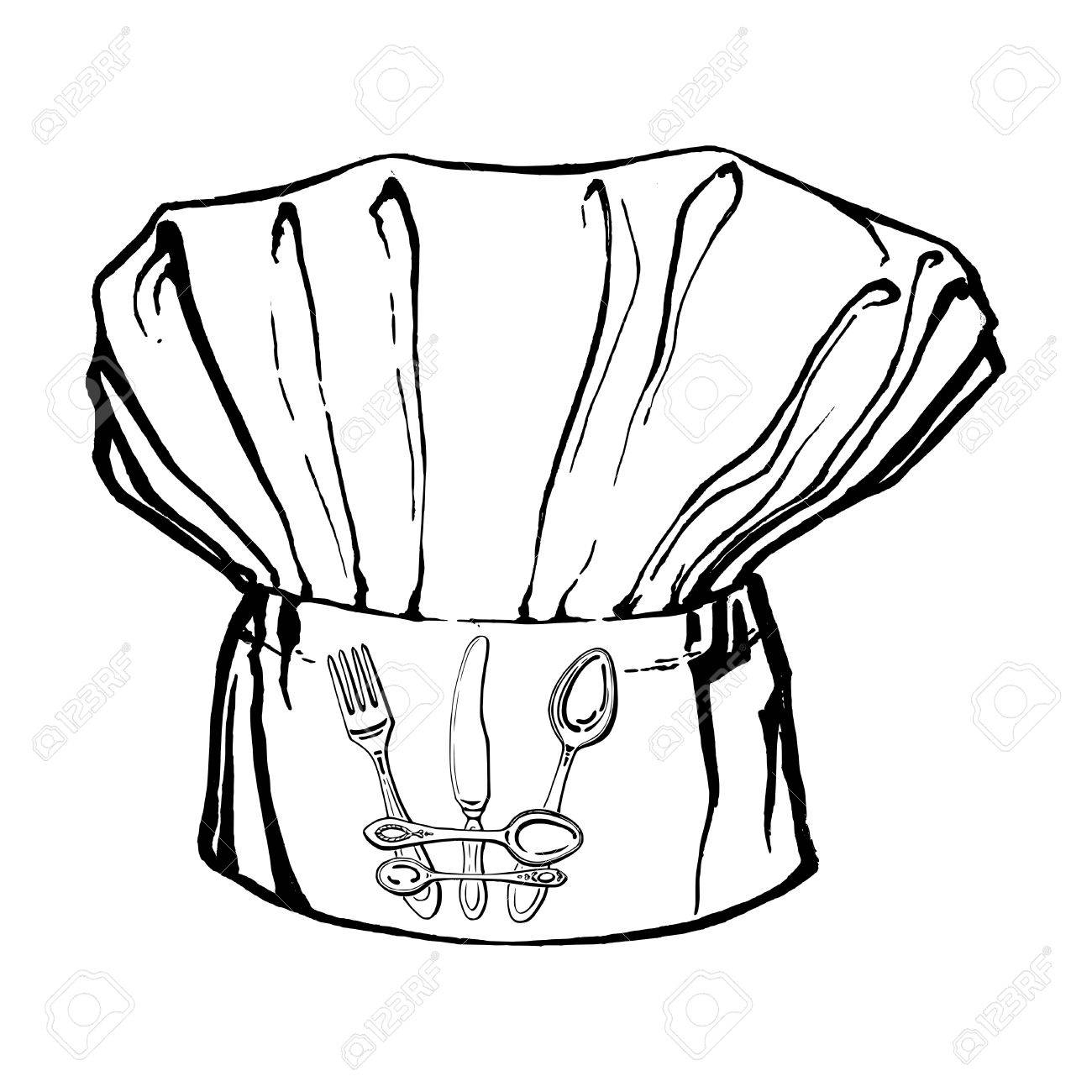 1300x1300 Drawing Of A Chef Hat