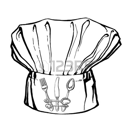 450x450 Hand Drawn, Vector, Sketch Illustration Of Chef's Hat Royalty Free