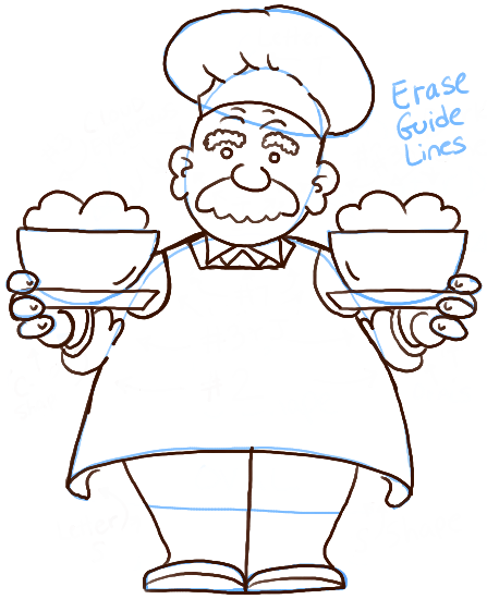 447x550 How To Draw A Cartoon Chef With Easy Steps Tutorial
