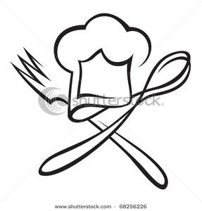 287x300 Hat With Spoon And Fork Clipart Picture