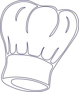 258x300 Outlined Chef Hat Clip Art