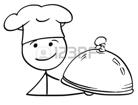 450x344 Cartoon Vector Stick Man Stickman Drawing Of Male Cook Chef