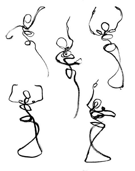 474x597 Gesture Drawings Like The Free Flowing Line.great Way To Get