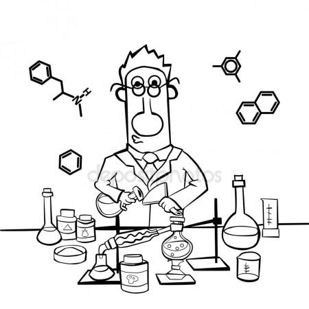450x450 Chemist Work In A Laboratory. Professor Conducts Synthesis
