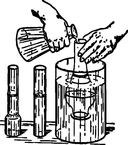 528x596 Chemistry Experiment Clip Art