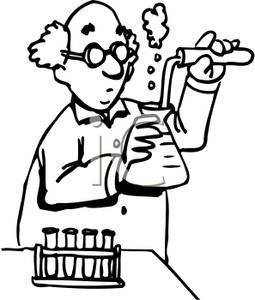 255x300 Coloring Page Of A Chemist