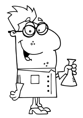 340x480 Whacky Chemist Coloring Page Free Printable Coloring Pages