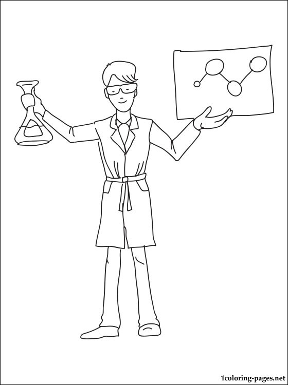 560x750 Chemist Coloring Page Coloring Pages