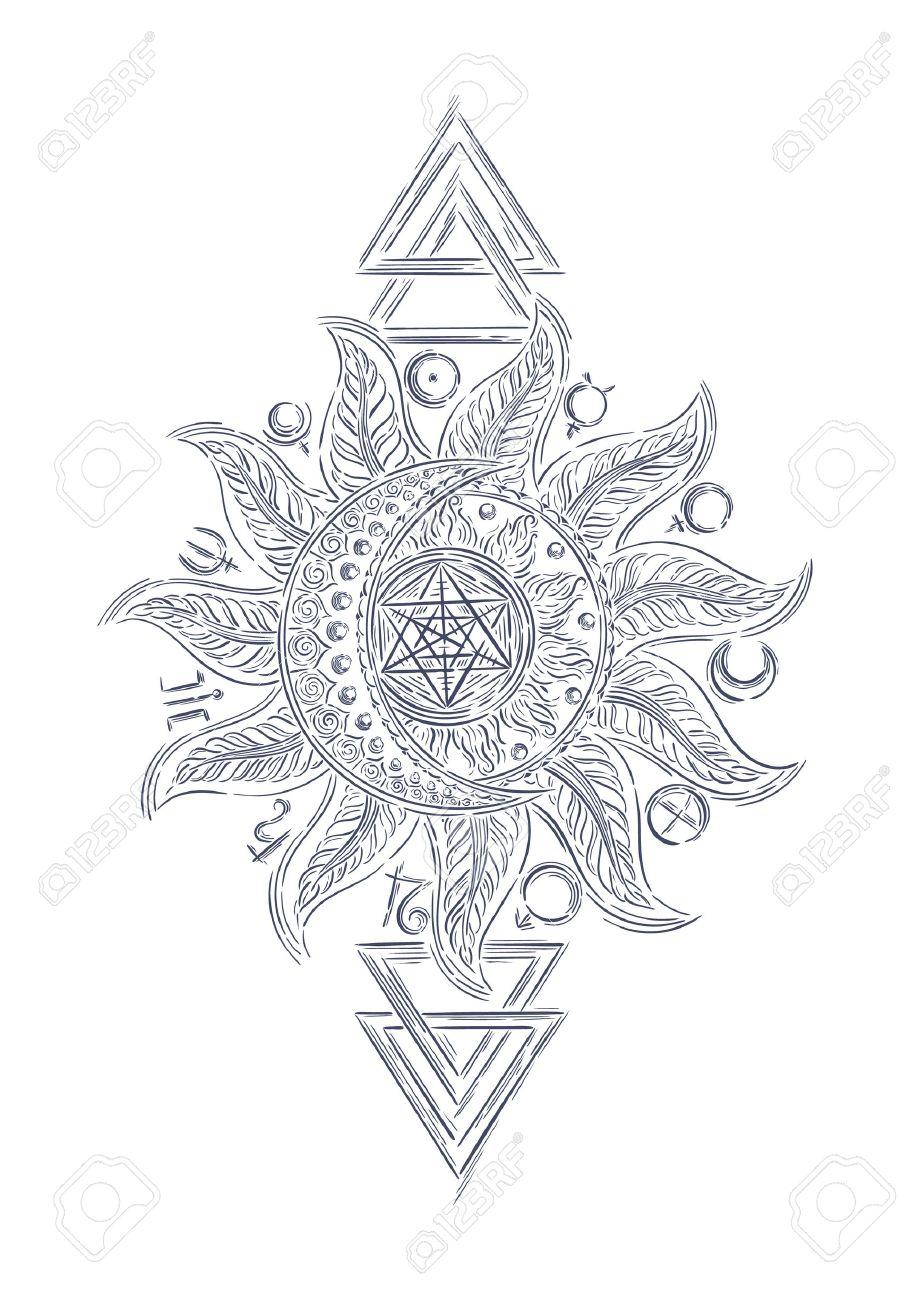910x1300 Line Art Alchemy Symbols, Planet Icon Magic, Astrology, Alchemy