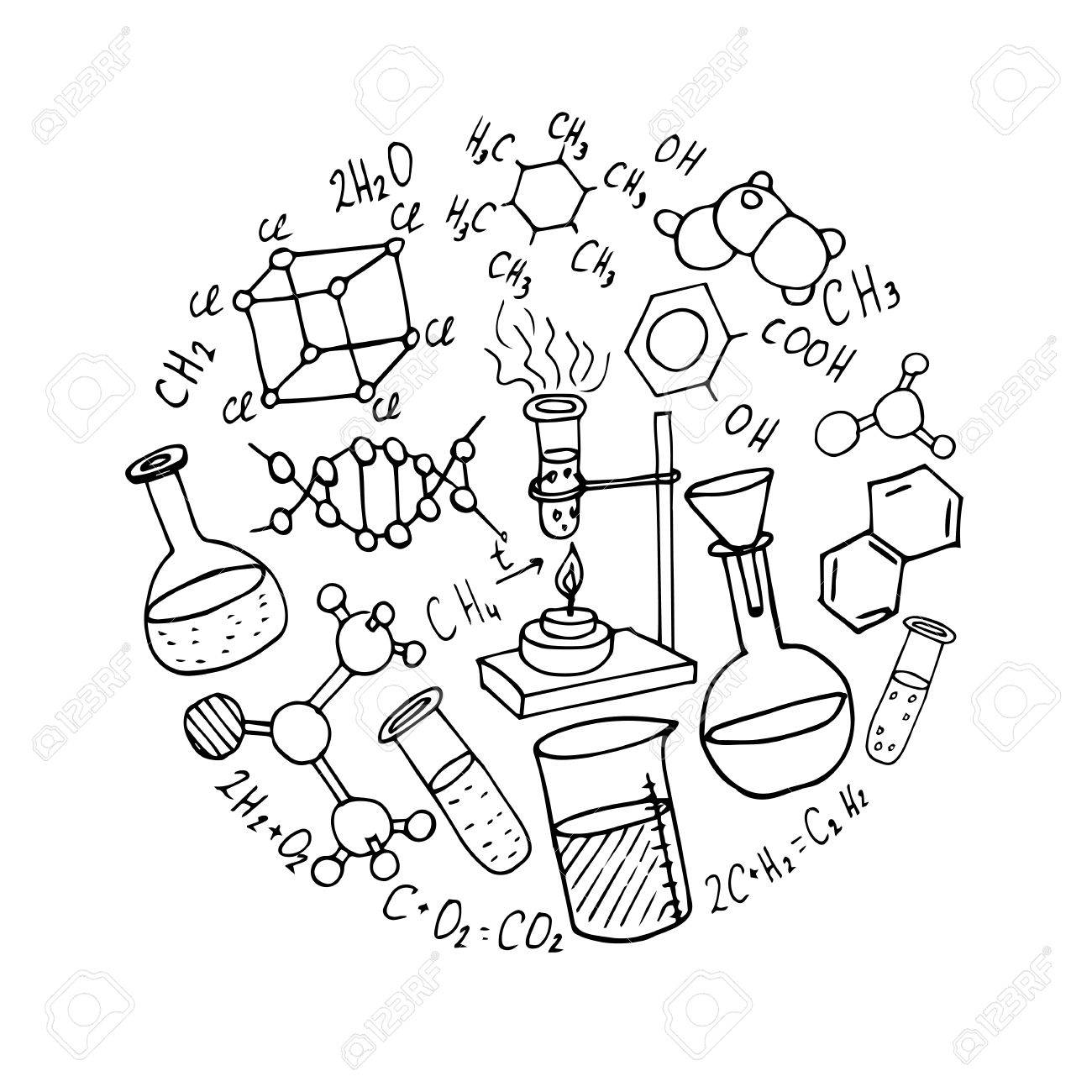 Line Drawing Chemistry : Chemistry lab drawing at getdrawings free for