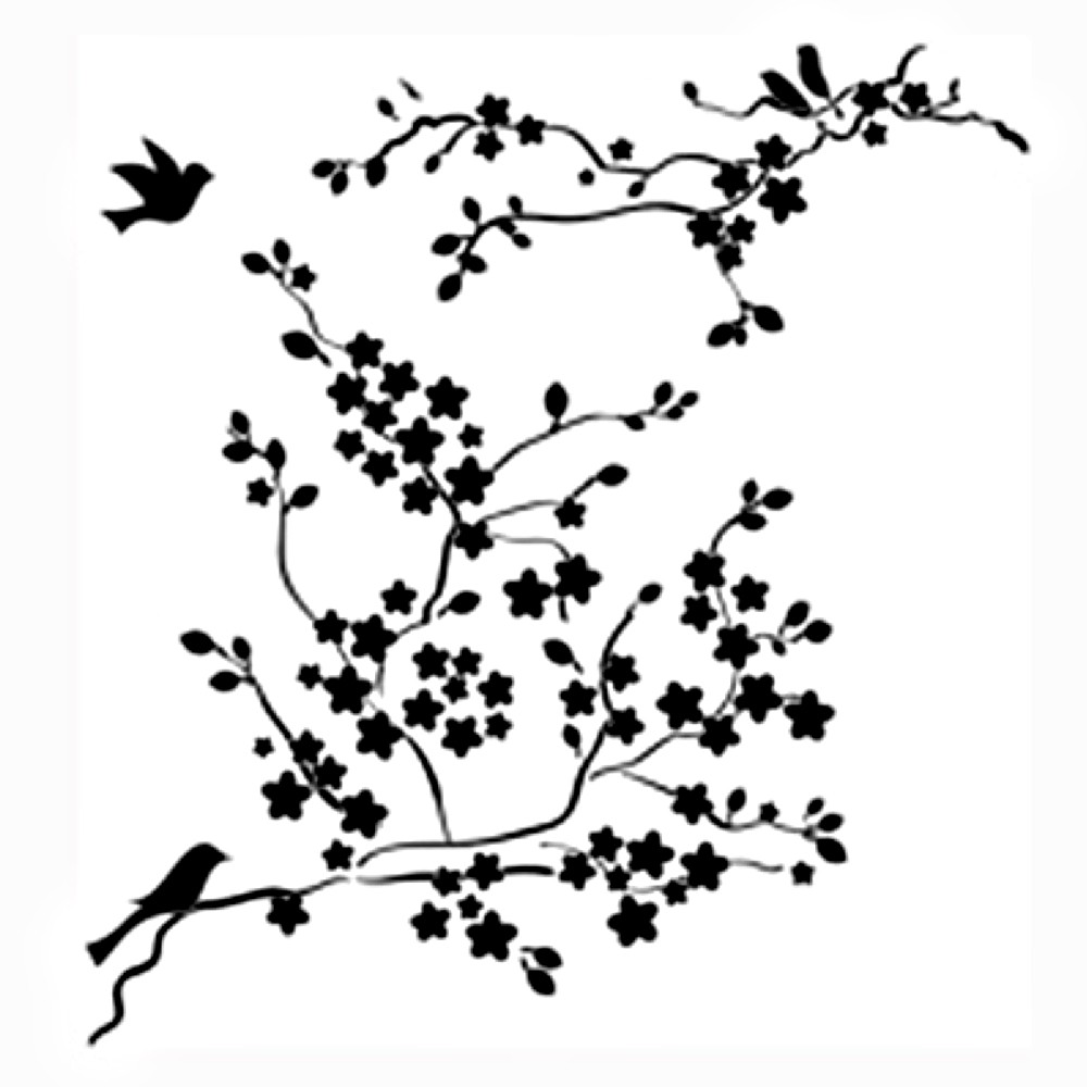 Cherry Blossom Branch Drawing