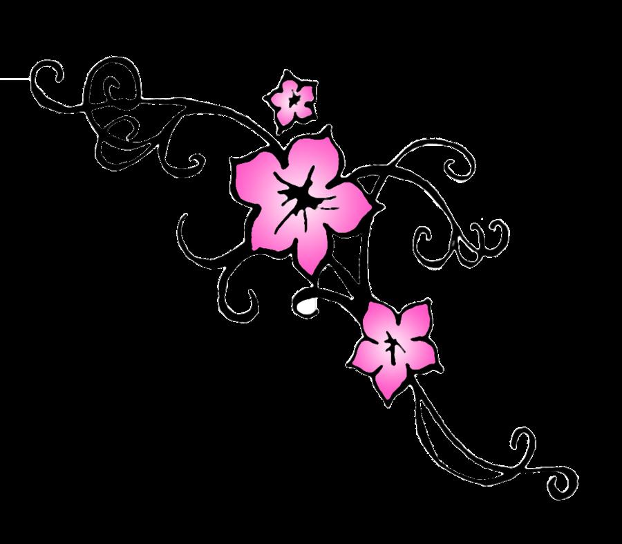 900x787 Cherry Blossom Flower Tattoo Outline