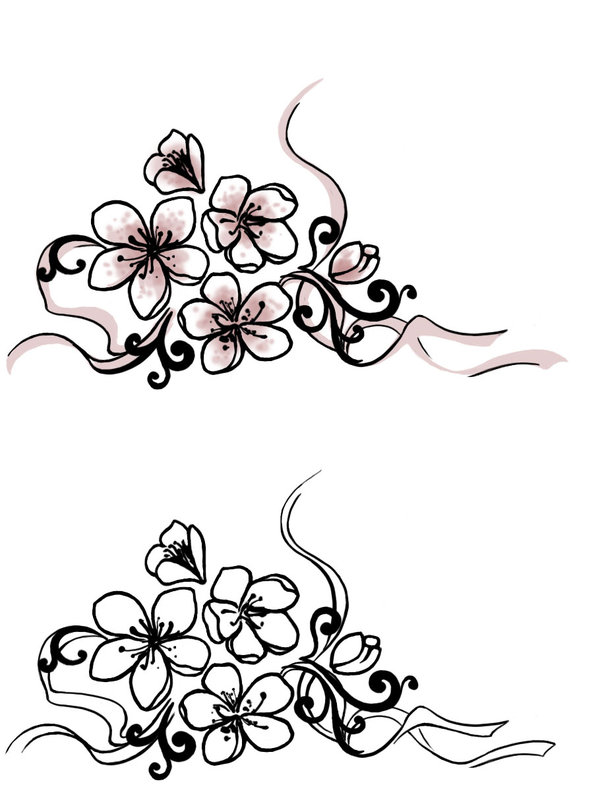 Cherry Blossom Tattoo Drawing At Getdrawings Com Free For Personal