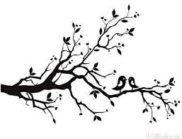 Cherry Blossom Tree Branch Drawing