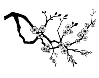 340x270 Lavinia Cherry Tree Cling Stamp