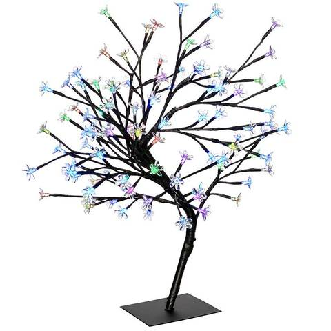 480x480 Pre Lit Illuminated Cherry Blossom Colour Changing Tree With 96