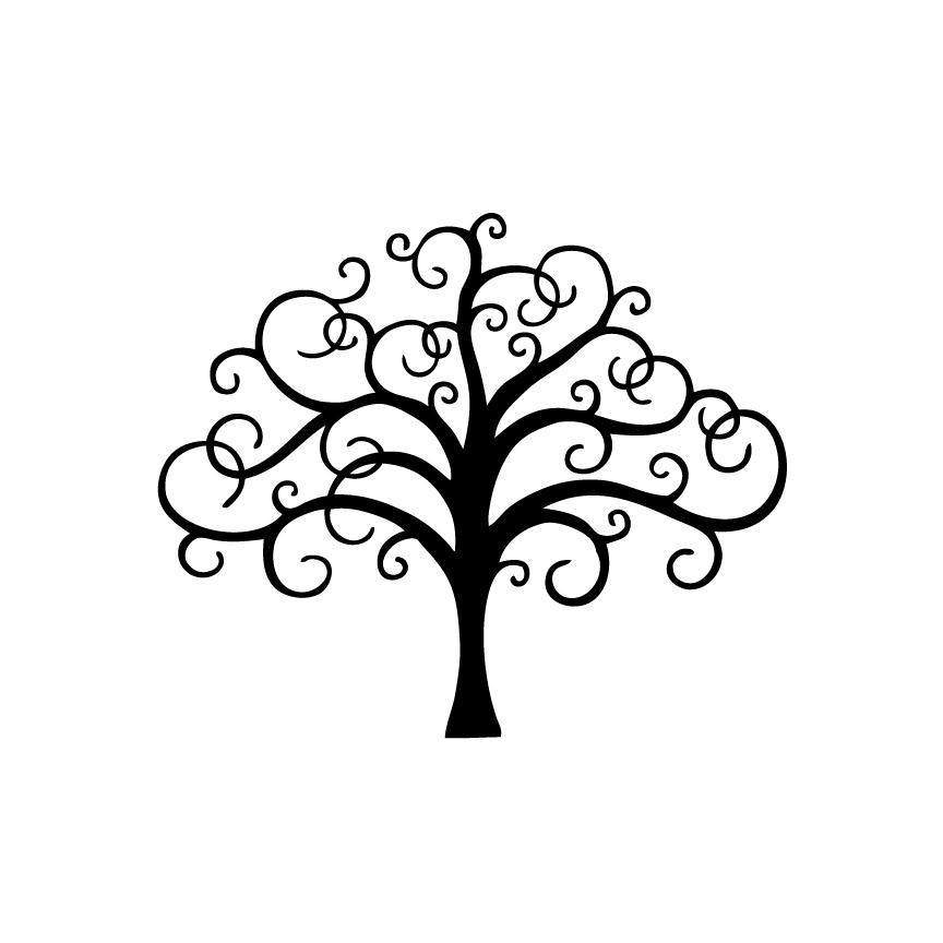 864x864 Filigree Tree Decal