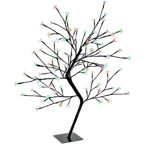 480x480 96 Led Lights Illuminated Cherry Blossom Tree Christmas Decoration
