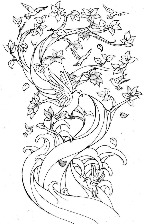 736x1142 Drawn Cherry Blossom Family Tree