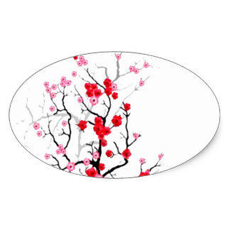 324x324 Sakura Tree Stickers Zazzle