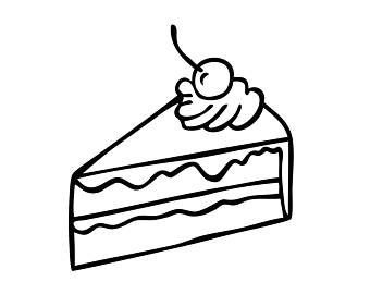 Slice of cake clipart black and white 6 » Clipart Station  |Cake Slice Clipart Black And White