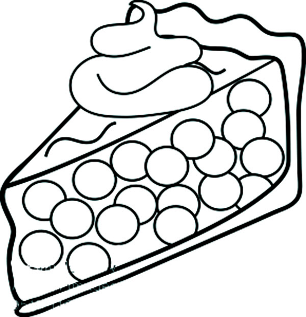 Coloring Page Of Apple Pie