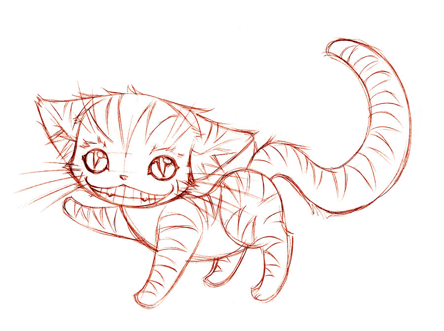900x672 The Cheshire Cat Sketch By Sureya