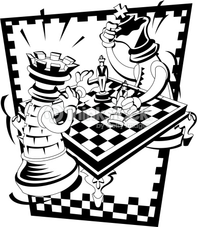 386x444 Chess Vector Two Oversized Chess Pieces Playing A Game Of Chess