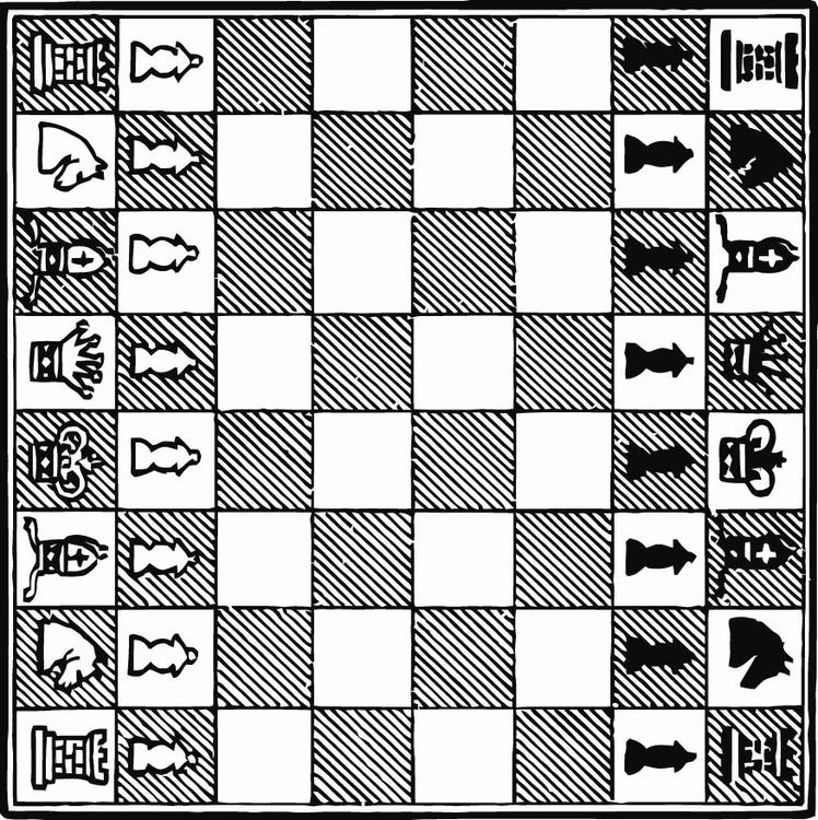 748x750 Coloring Page Play Chess