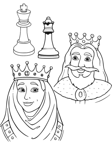 386x500 King And Queen In Chess Public Domain Vectors