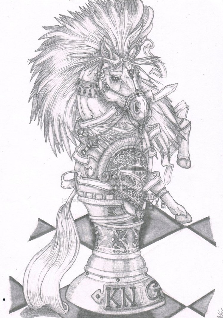 748x1067 Beautiful Knight Chess Piece ) (Drawing This For My Best Friend