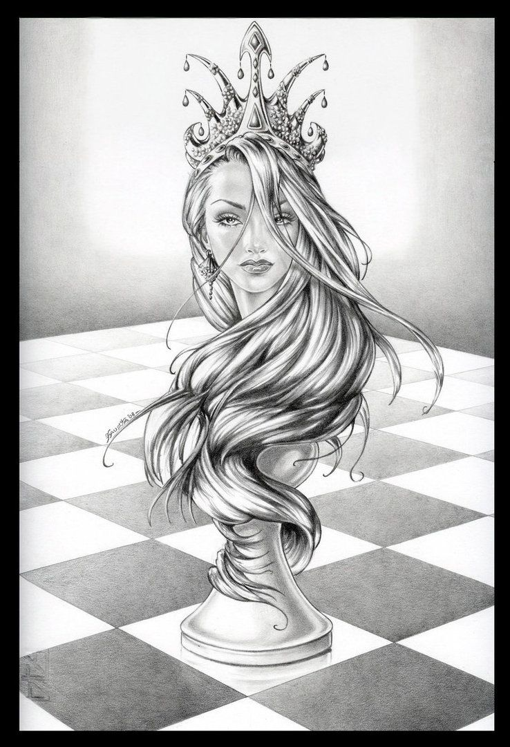 738x1081 Queen Chess Piece Drawings