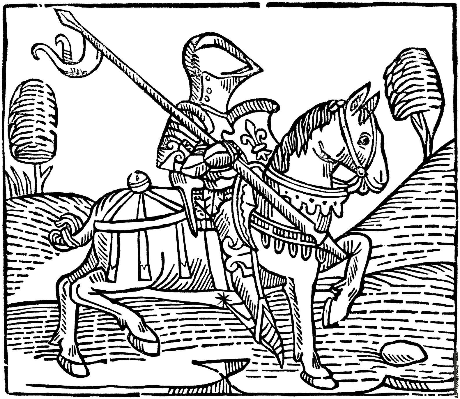 1580x1370 Cut Of A Knight. (From Caxton'S
