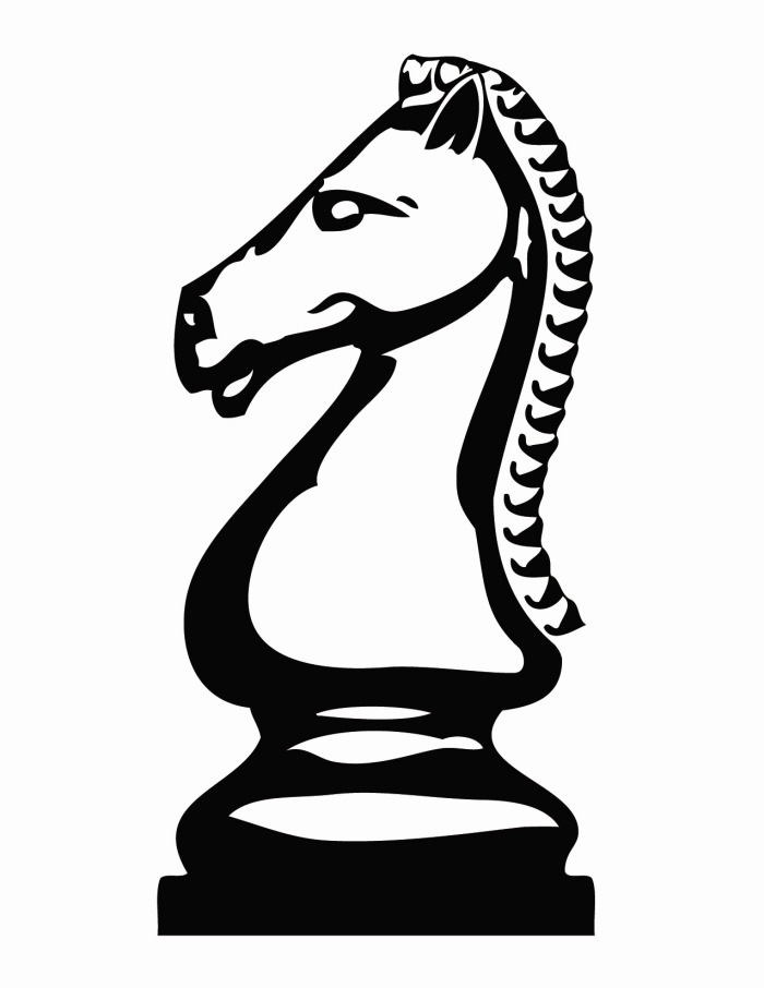 700x906 Knight Chess Piece Clipart
