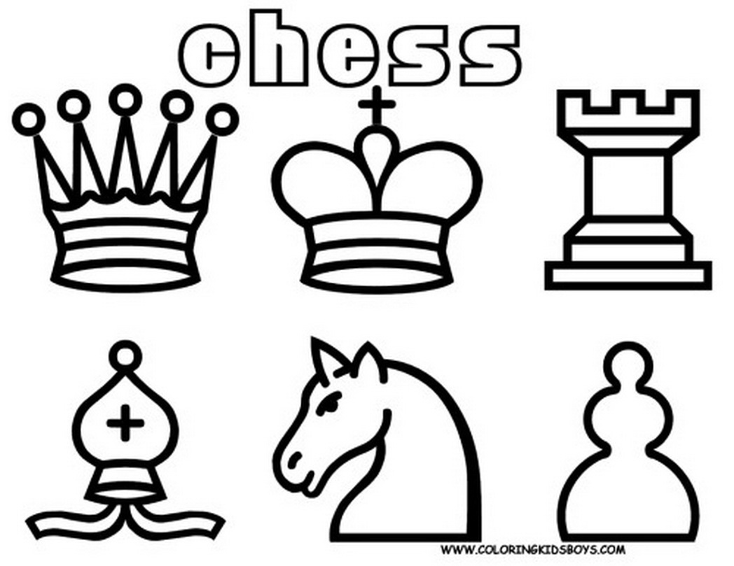 1048x809 Pages Print All Chess Pieces Free Coloring Game 553817 Coloring