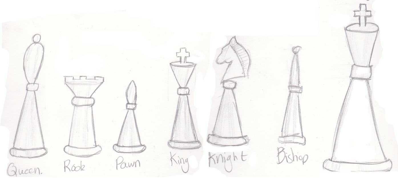 Chess Pieces Drawing