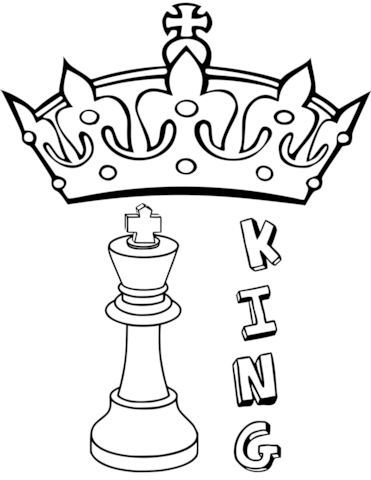 371x480 King Chess Piece Coloring Page Free Printable Coloring Pages