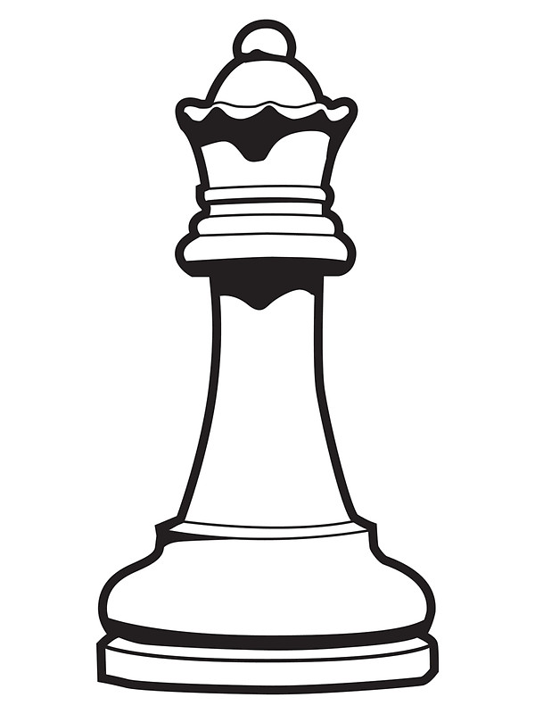 600x800 Queen Chess Piece Stickers By Detourshirts Redbubble