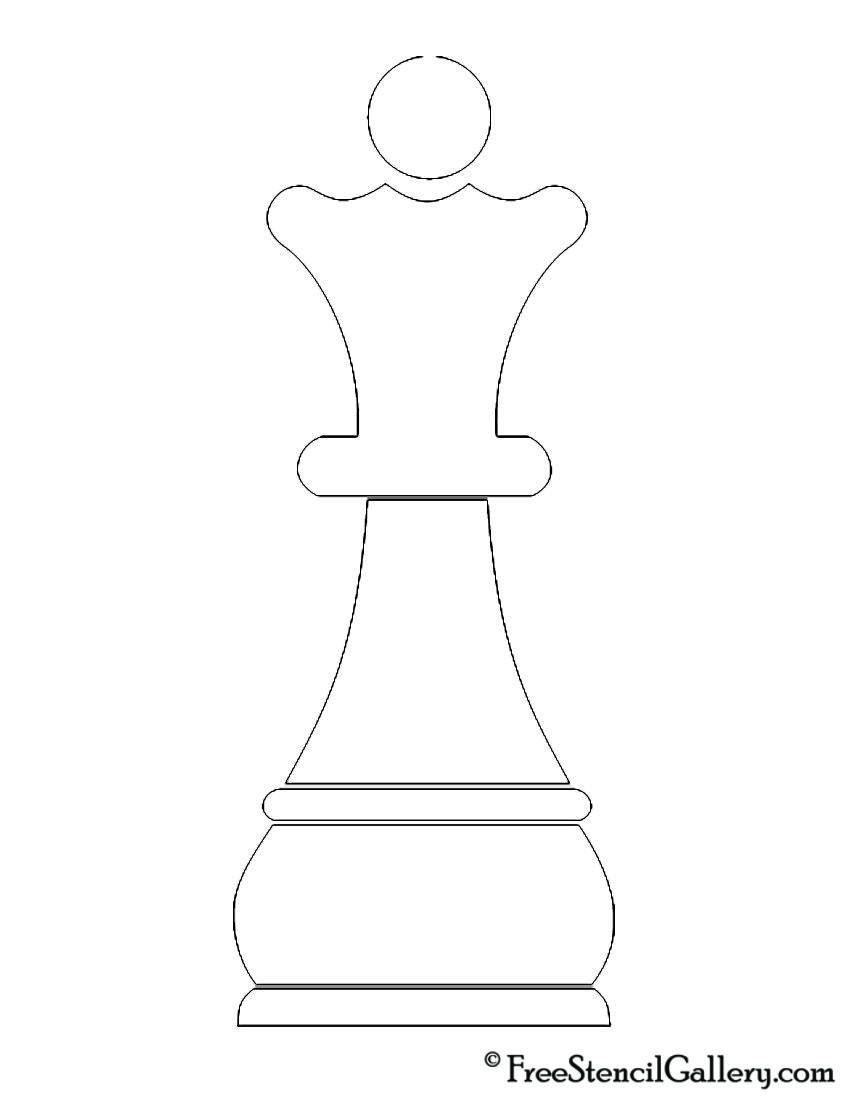 851x1100 Chess Piece